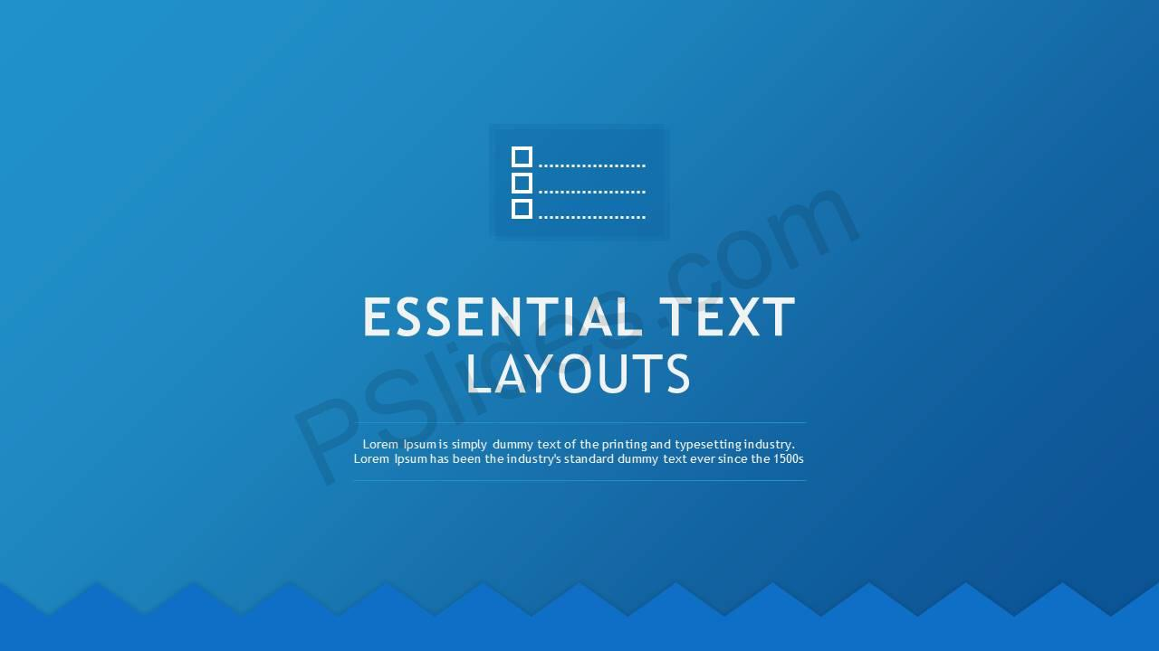 Essential Text Layouts Slide1