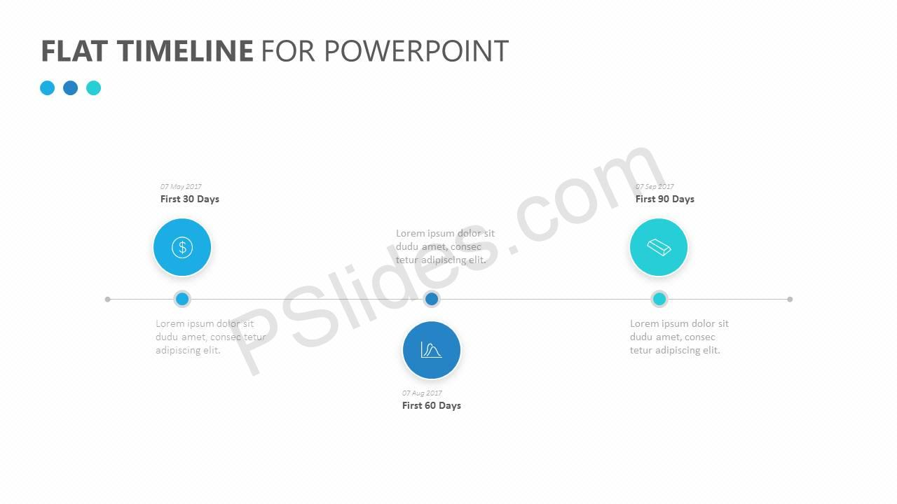 Flat Timeline for PowerPoint Slide1