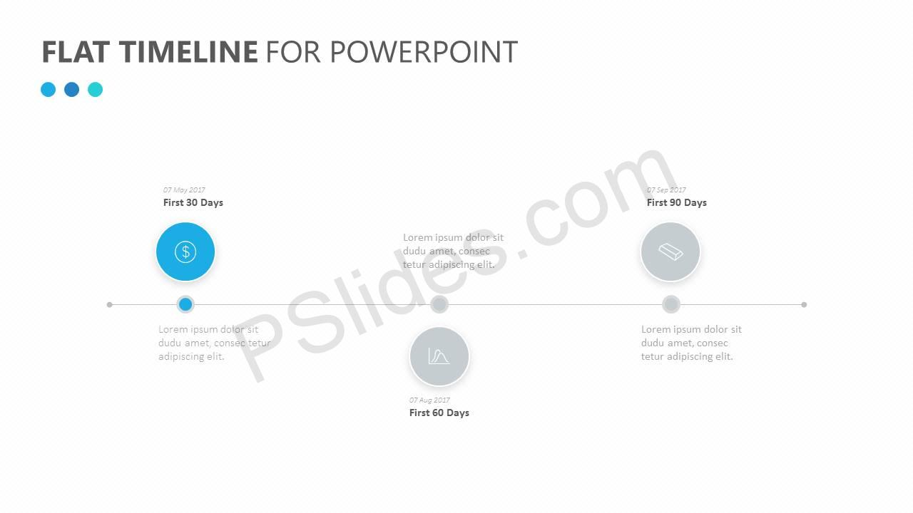 Flat Timeline for PowerPoint Slide2