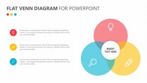 Free Flat Venn Diagram for PowerPoint