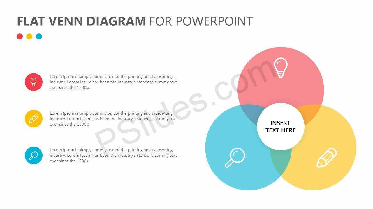 Flat Venn Diagram for PowerPoint Slide2