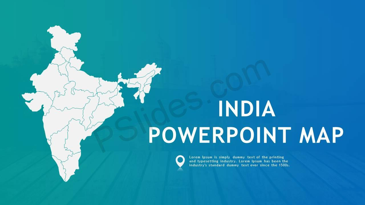 India PowerPoint Map Slide1