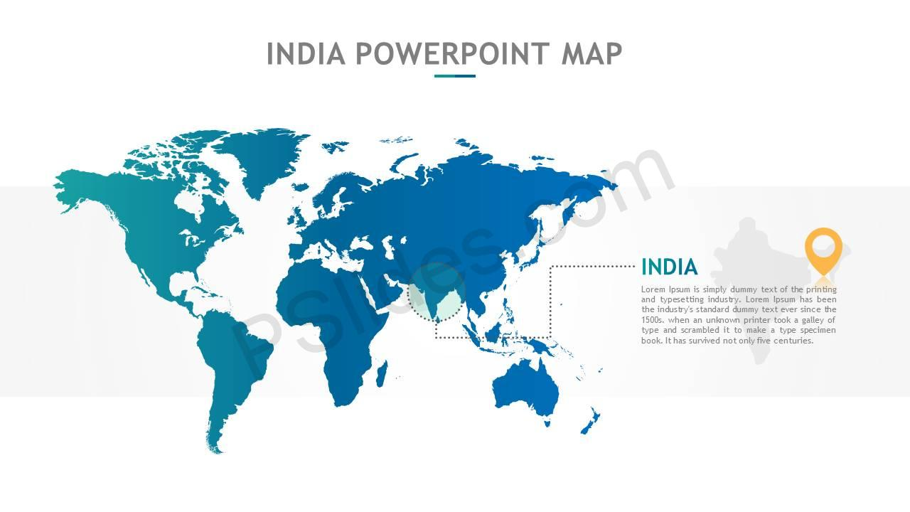 India PowerPoint Map Slide2