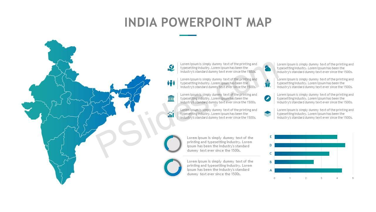 India PowerPoint Map Slide3