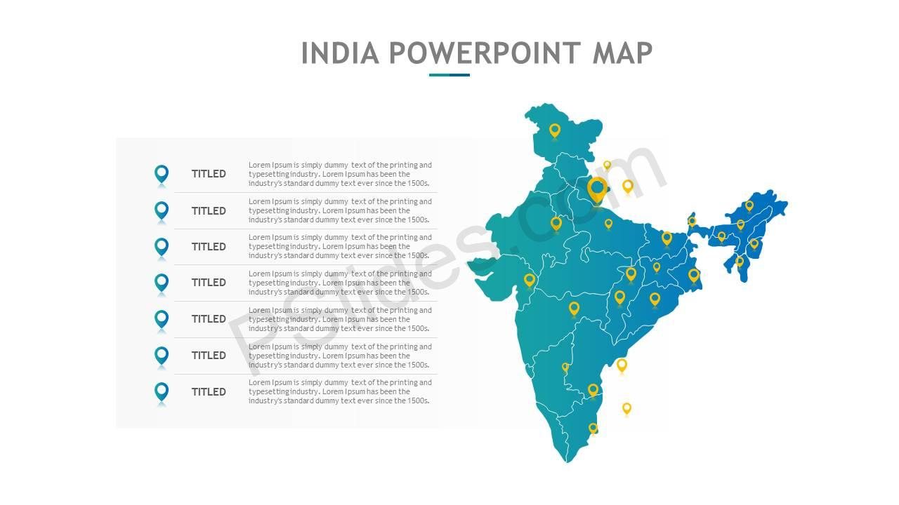 India PowerPoint Map Slide5