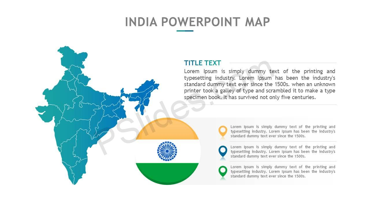 India PowerPoint Map Slide6