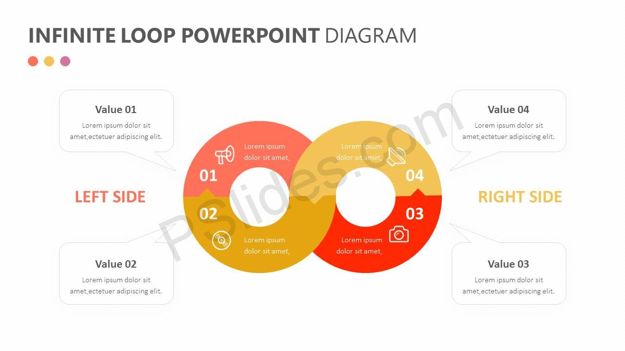Infinite Loop PowerPoint Diagram Slide1
