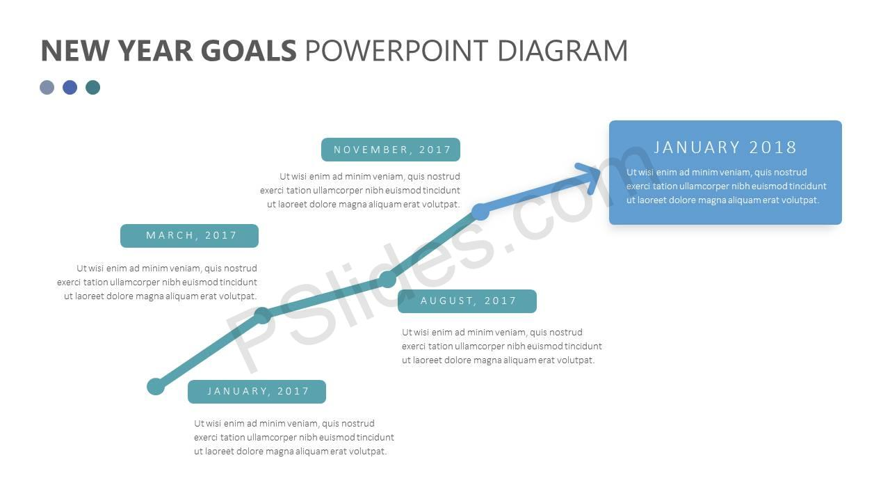 New Year Goals PowerPoint Diagram Slide1