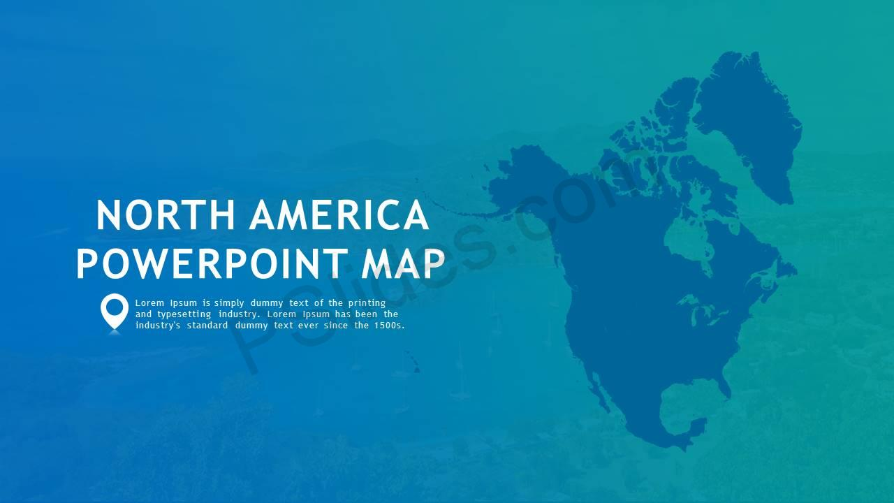 North America PowerPoint Map Slide1