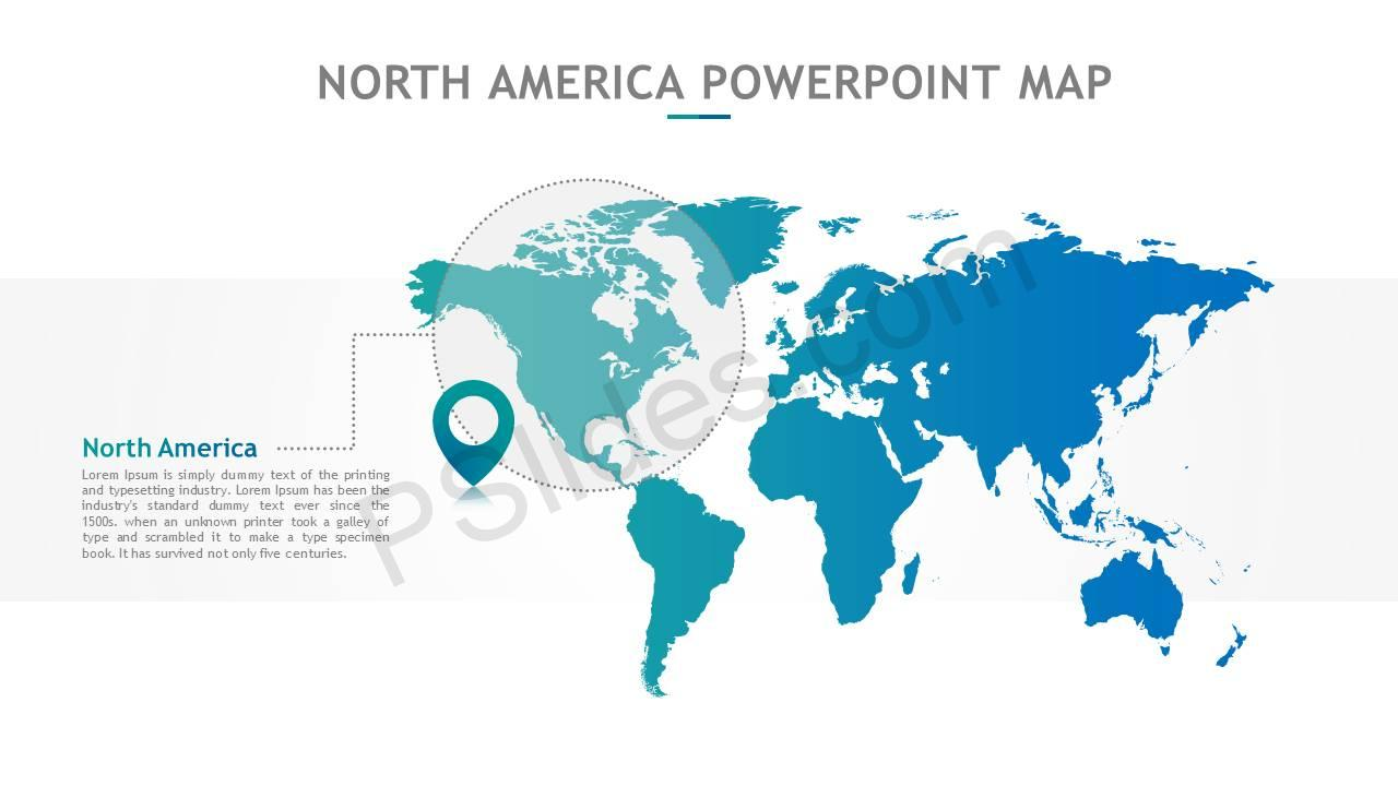 North America PowerPoint Map Slide2