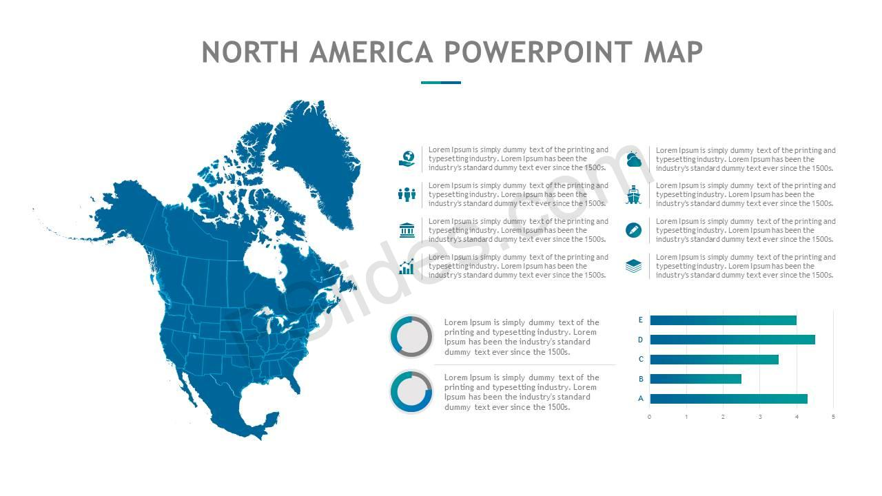 North America PowerPoint Map Slide3