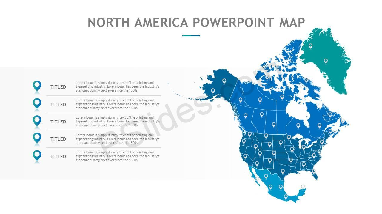 North America PowerPoint Map Slide4