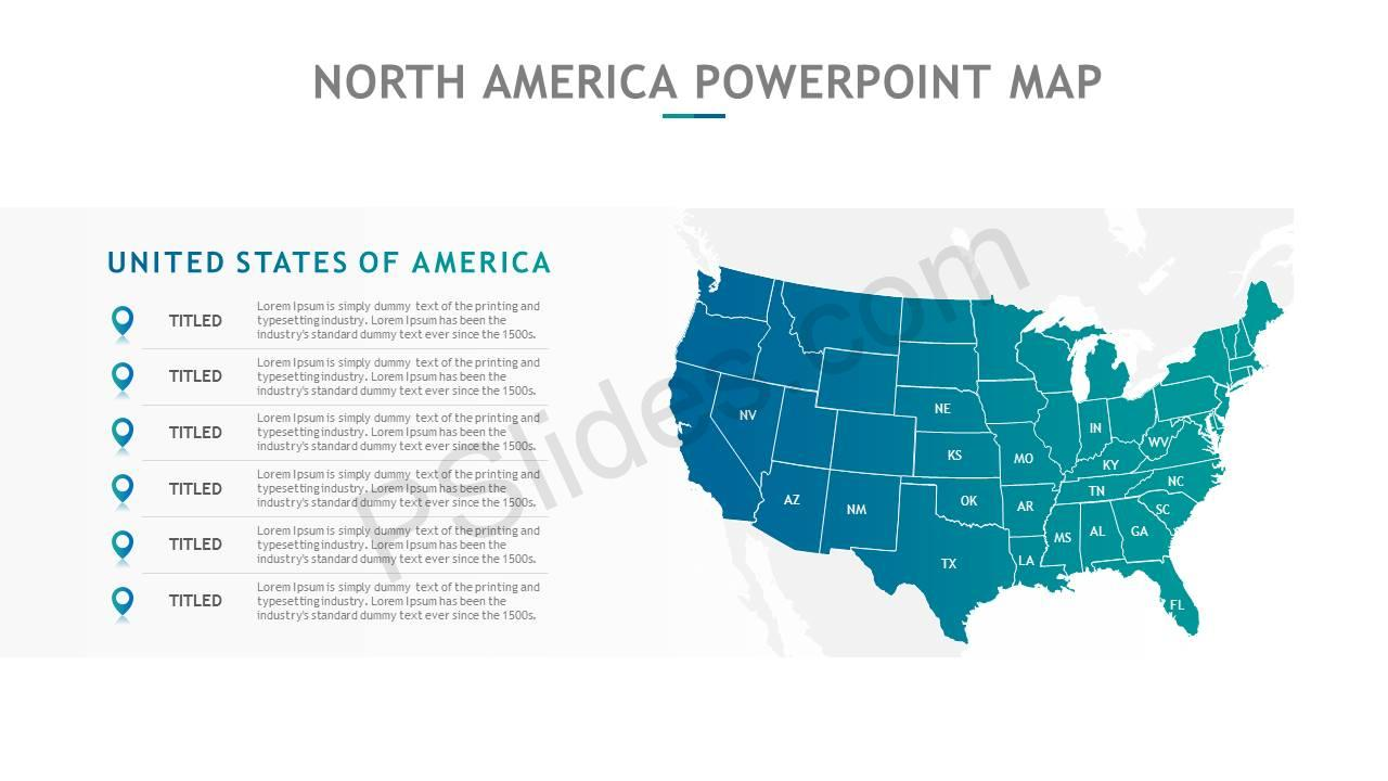 North America PowerPoint Map Slide6