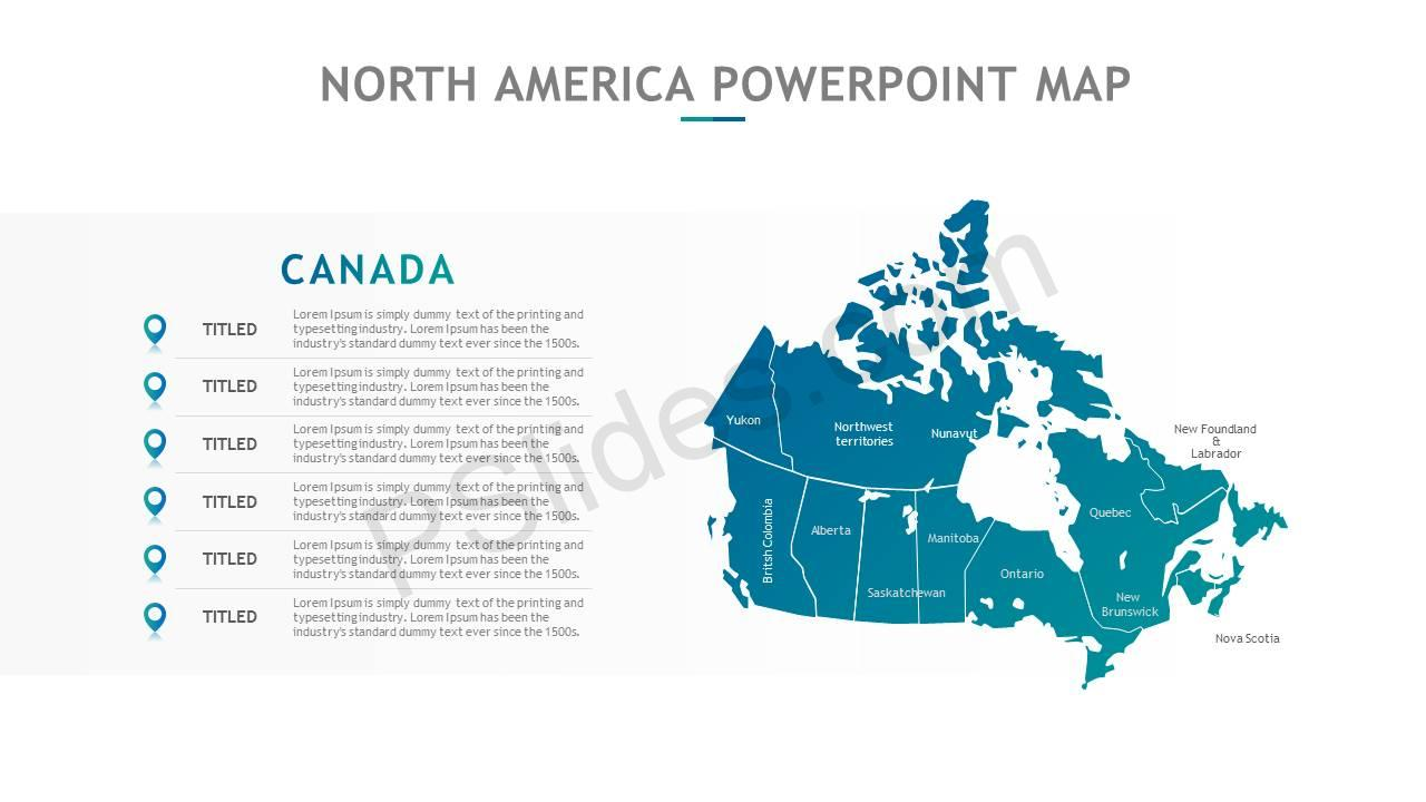 North America PowerPoint Map Slide7