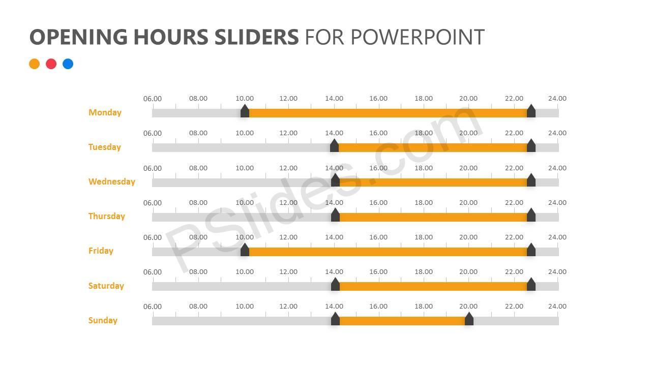Opening Hours Sliders for PowerPoint Slide1