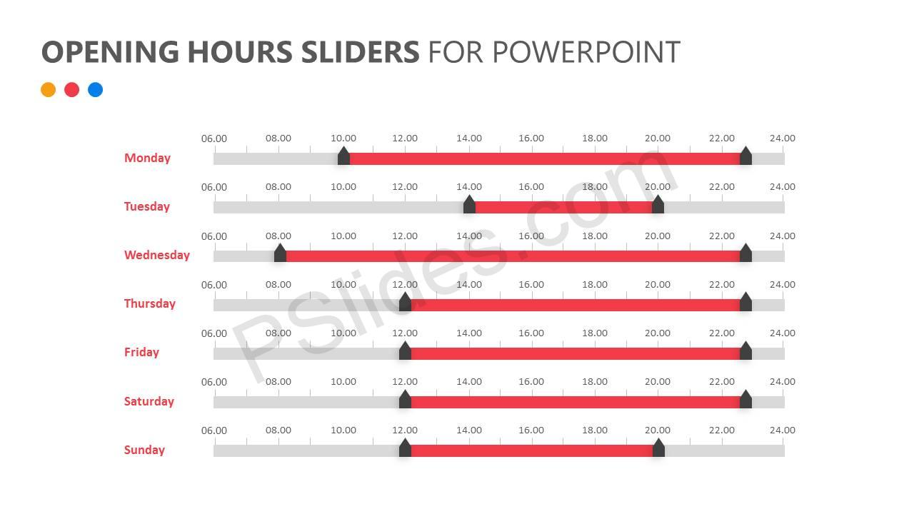 Opening Hours Sliders for PowerPoint Slide2