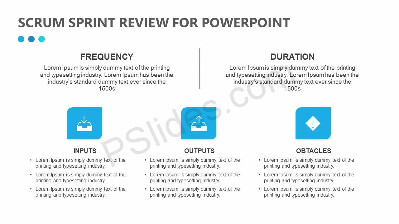 Scrum Sprint Review for PowerPoint Slide1
