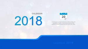 Simple 2018 Calendar for PowerPoint