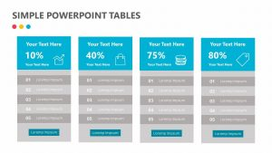 Simple PowerPoint Tables