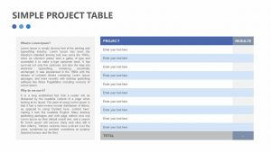 Free Simple Project Table for PowerPoint