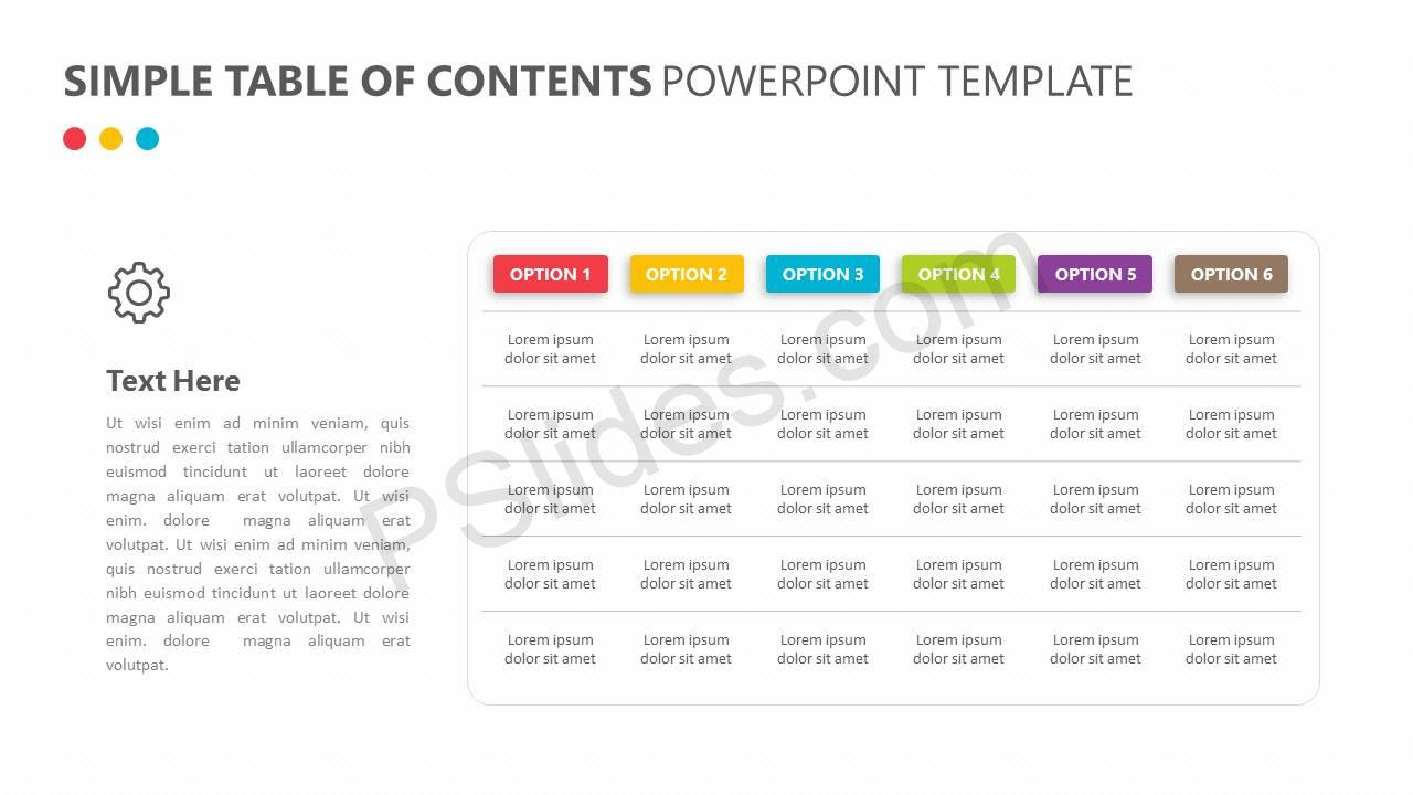 Simple Table of Contents PowerPoint Template Slide3