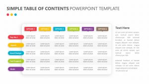 Simple Table of Contents PowerPoint Template