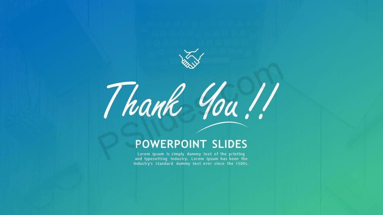 Thank You PowerPoint Slides Slide1