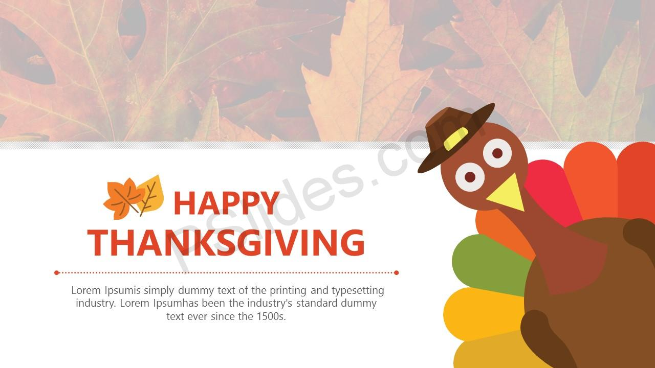 free thanksgiving powerpoint template pslides