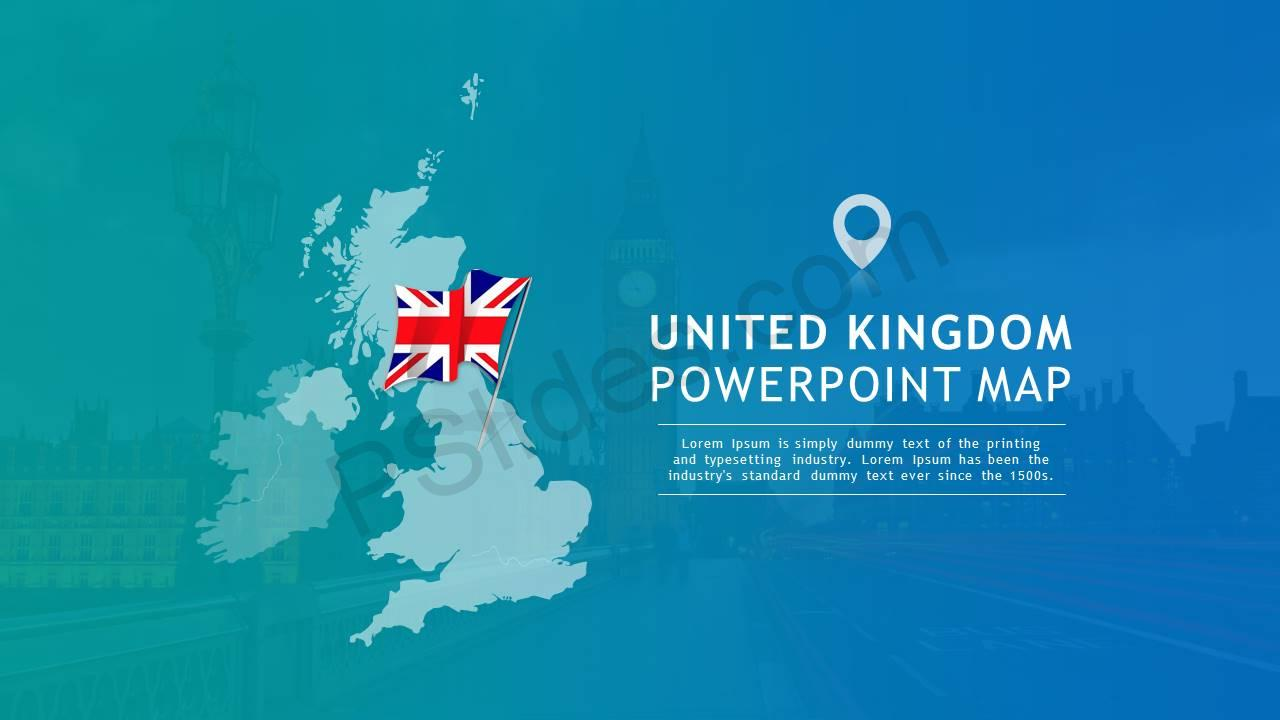 United Kingdom PowerPoint Map Slide1