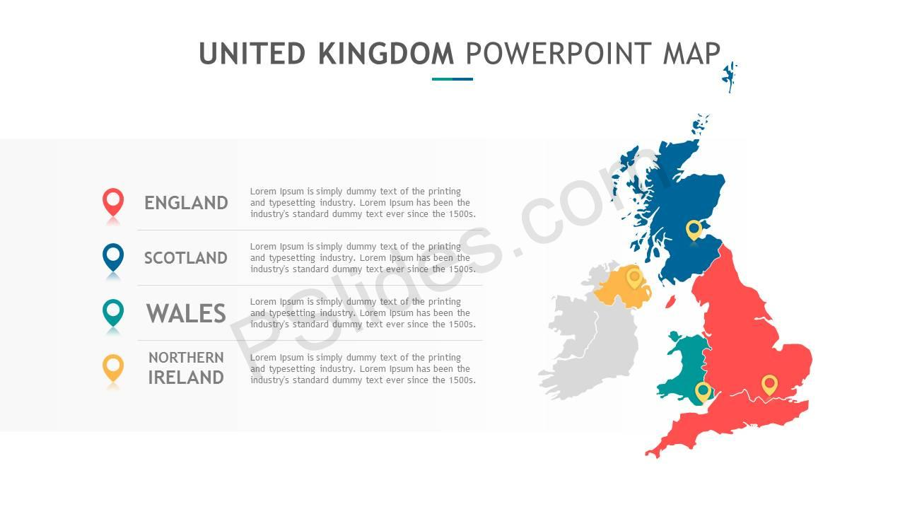 United Kingdom PowerPoint Map Slide4