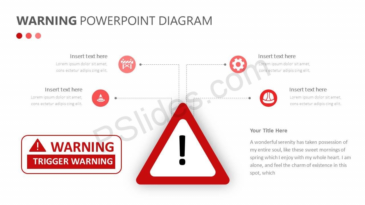 Warning PowerPoint Diagram Slide1