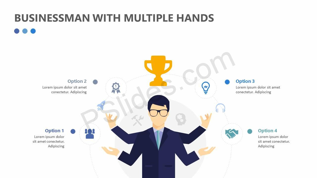 Businessman With Multiple Hands