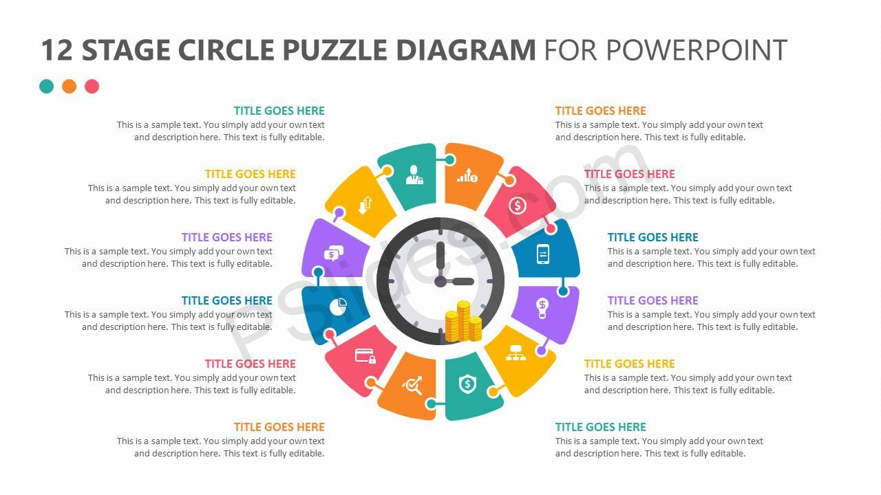 12 Stage Circle Puzzle Diagram Slide1