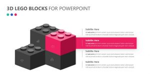 3D Lego Blocks for PowerPoint