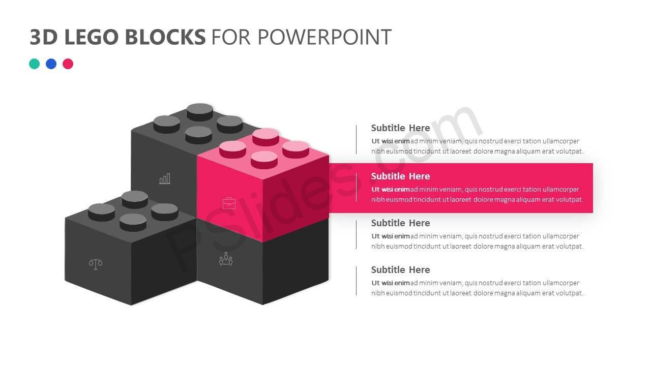 3D Lego Blocks for PowerPoint Slide3