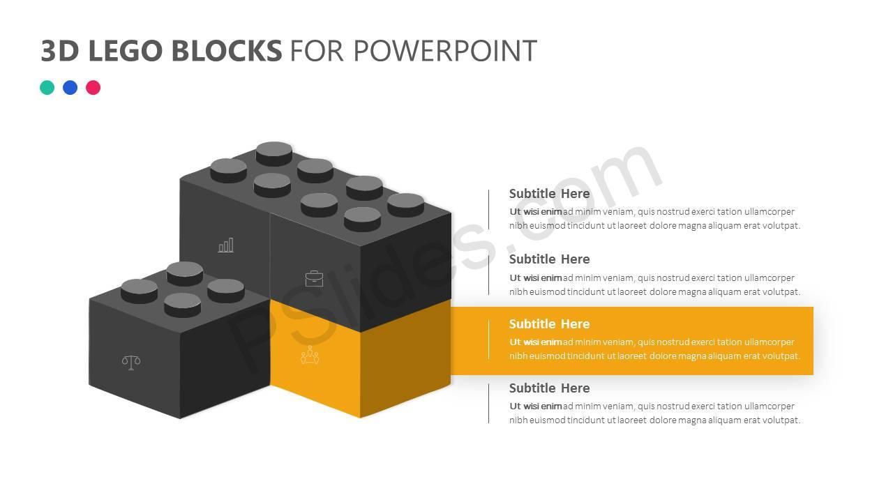 3D Lego Blocks for PowerPoint Slide4