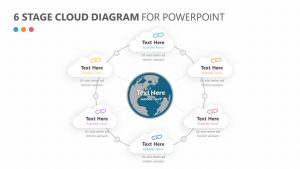 6 Stage Cloud Diagram for PowerPoint Slide 1