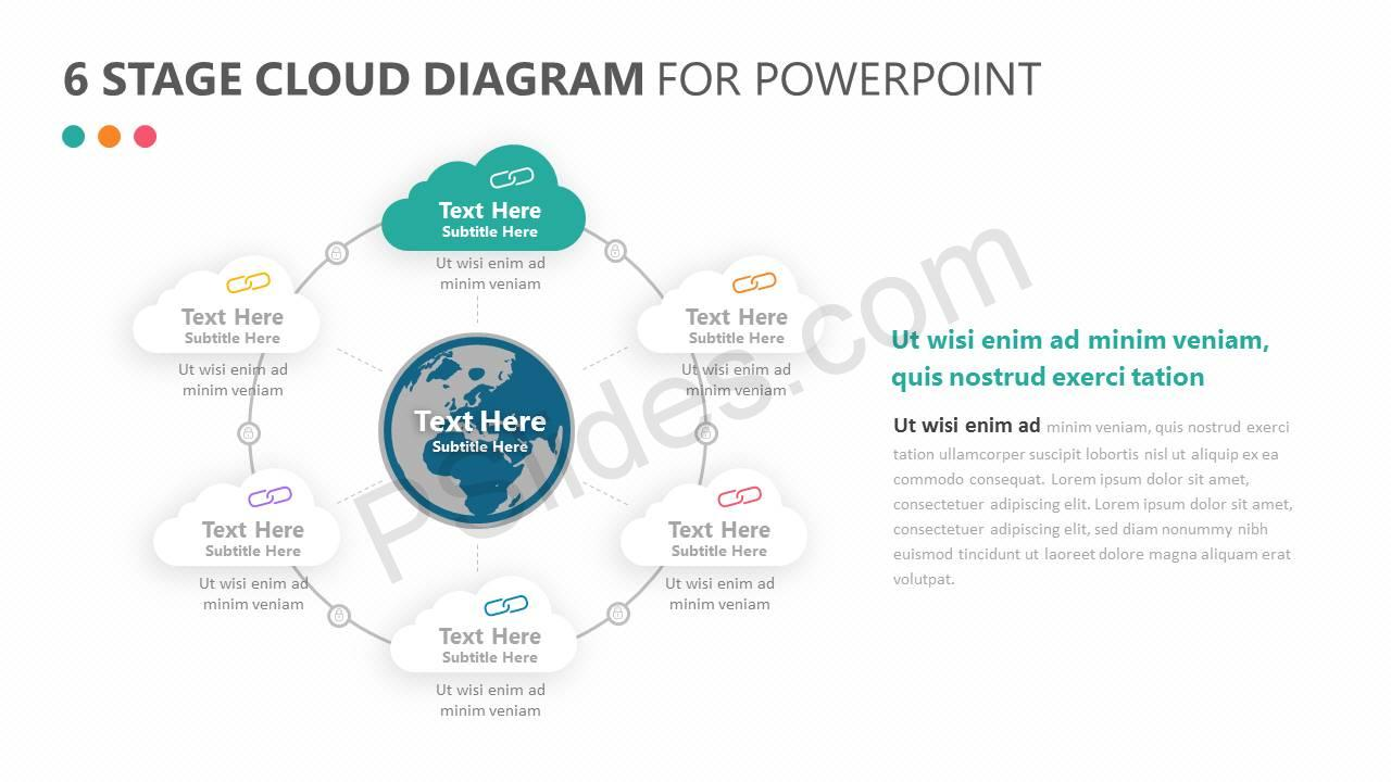 6 Stage Cloud Diagram for PowerPoint Slide2