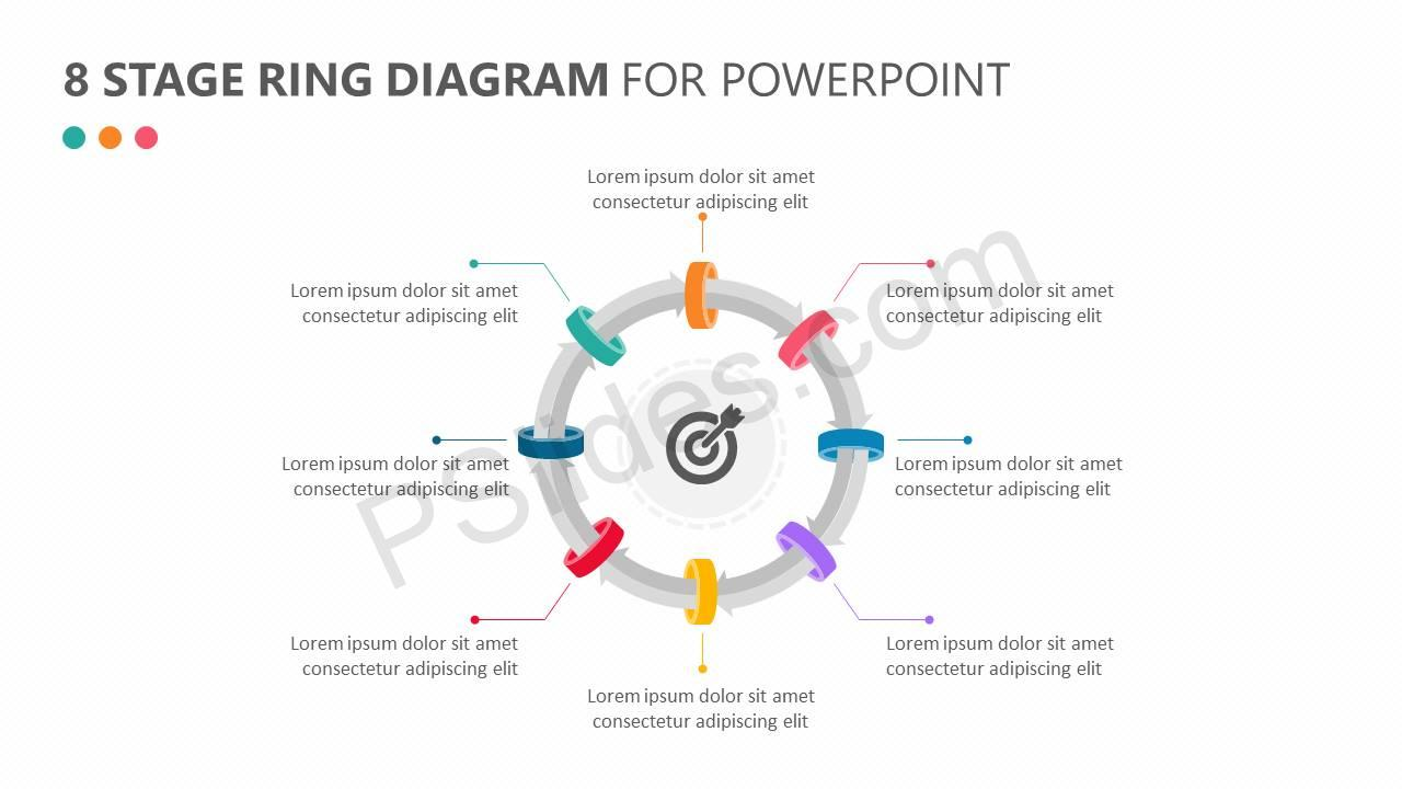 8 Stage Ring Diagram for PowerPoint Slide1