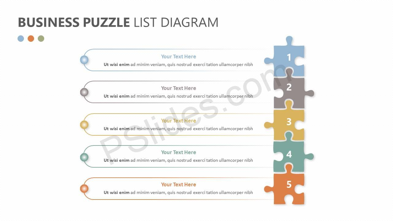 Business Puzzle List Diagram Slide1