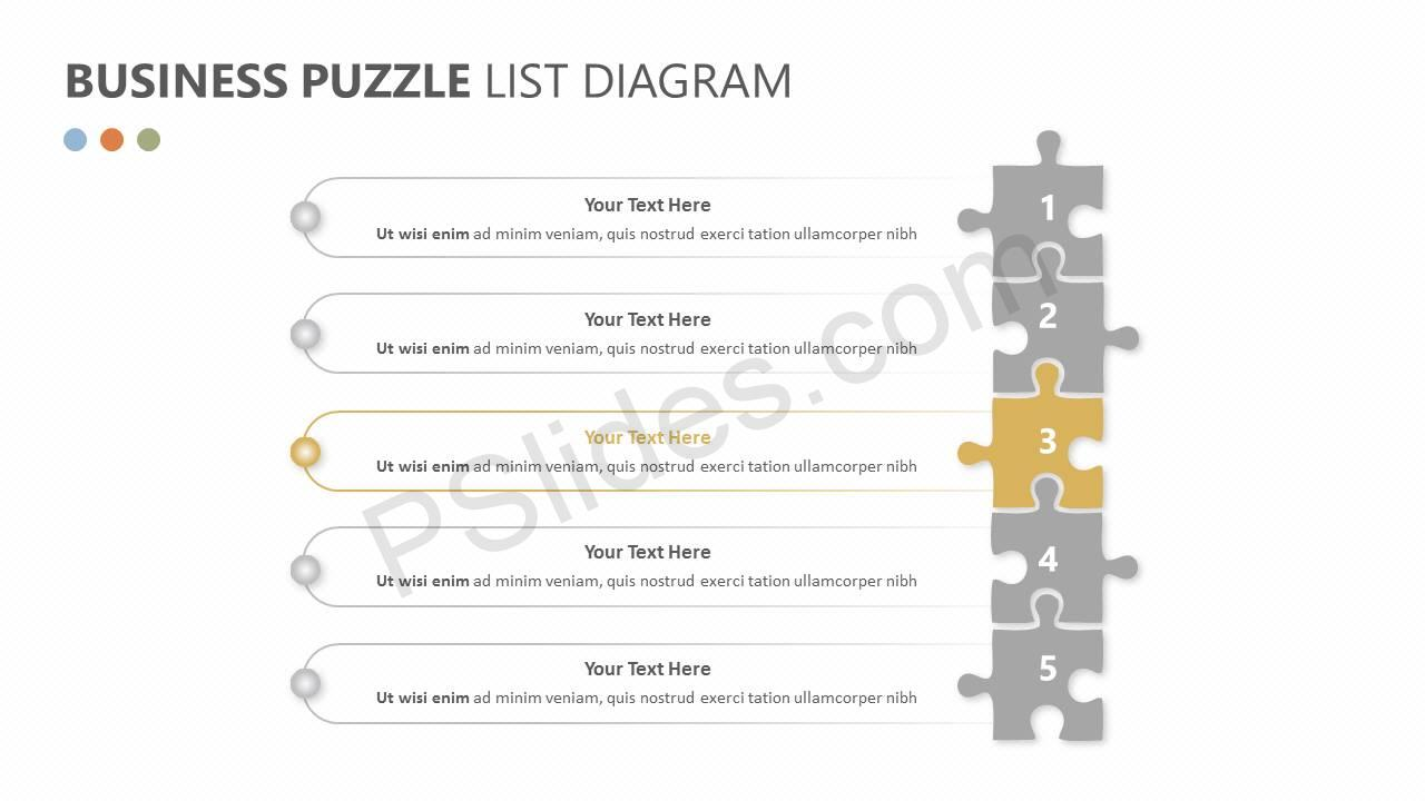 Business Puzzle List Diagram Slide2