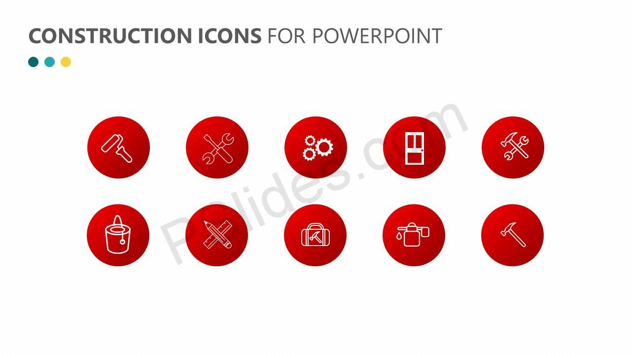 Construction Icons for PowerPoint Slide1