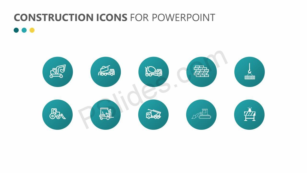 Construction Icons for PowerPoint Slide2