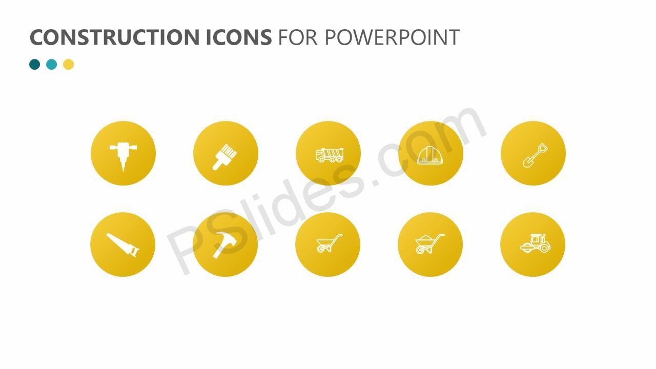 Construction Icons for PowerPoint Slide3