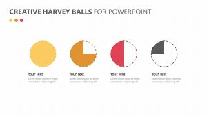 Creative Harvey Balls for PowerPoint Slide 1