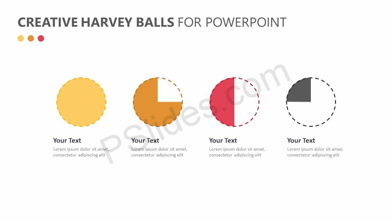 Creative Harvey Balls for PowerPoint Slide1