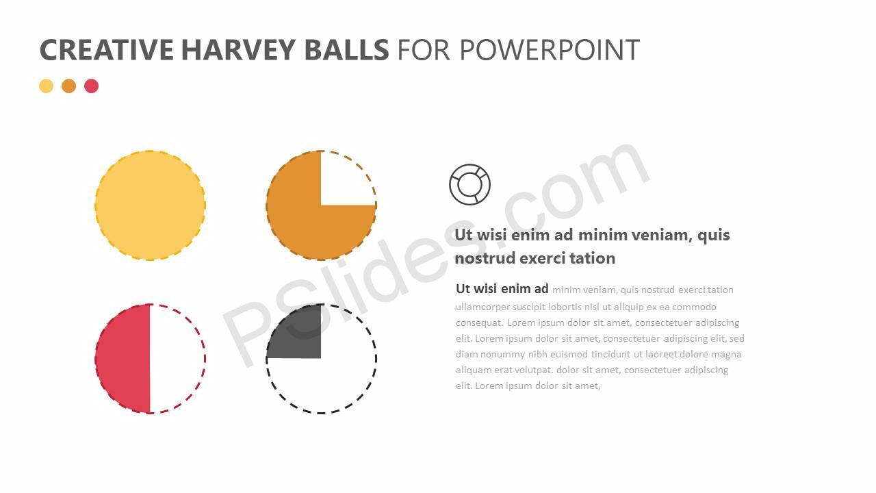 Creative Harvey Balls for PowerPoint Slide2