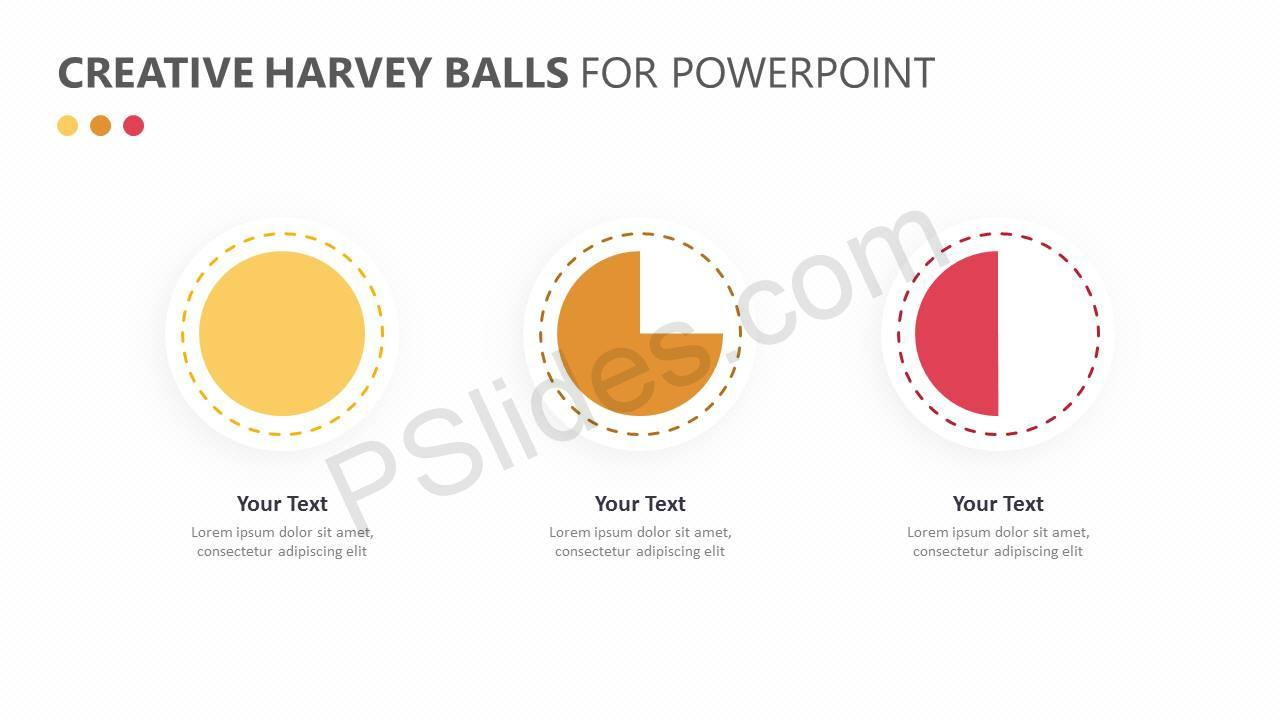 Creative Harvey Balls for PowerPoint Slide3