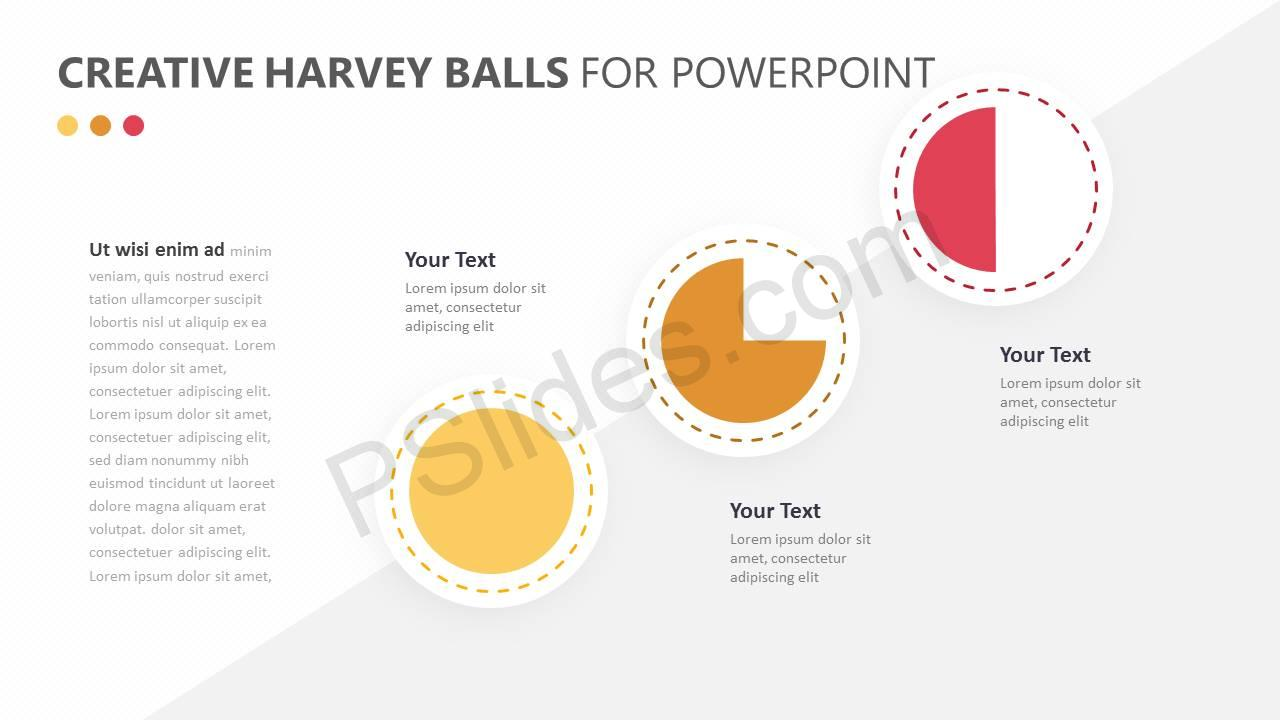 Creative Harvey Balls for PowerPoint Slide4