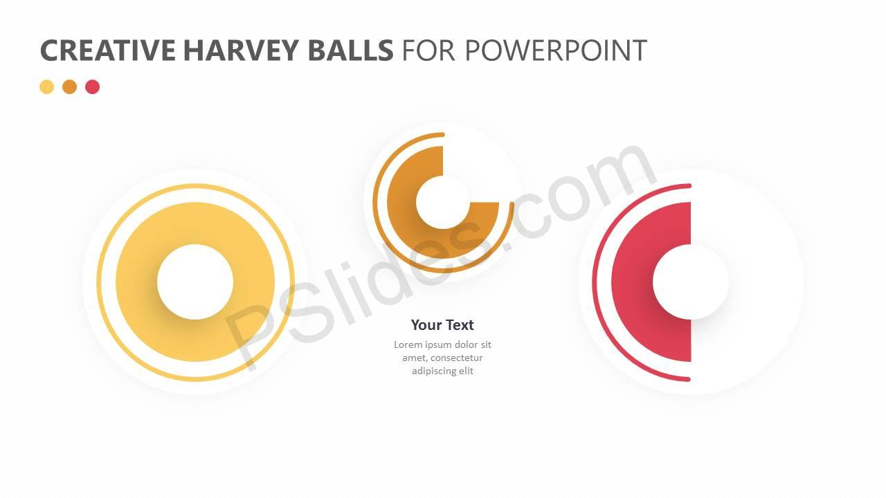 Creative Harvey Balls for PowerPoint Slide5
